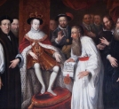 """Edward VI Granting Permission to John a Lasco to Set Up a Congregation for European Protestants in London in 1550. """
