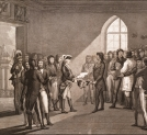 """Kosciusko and the Polish Nobles obtaining their Liberty by the generosity of the Emperor Paul I"" (Kościuszko i polska szlachta otrzymują Wolność dzięki wspaniałomyślności Imperatoa Pawła I)"