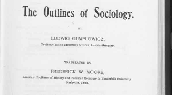 """The outlines of sociology"" Ludwika Gumplowicza."