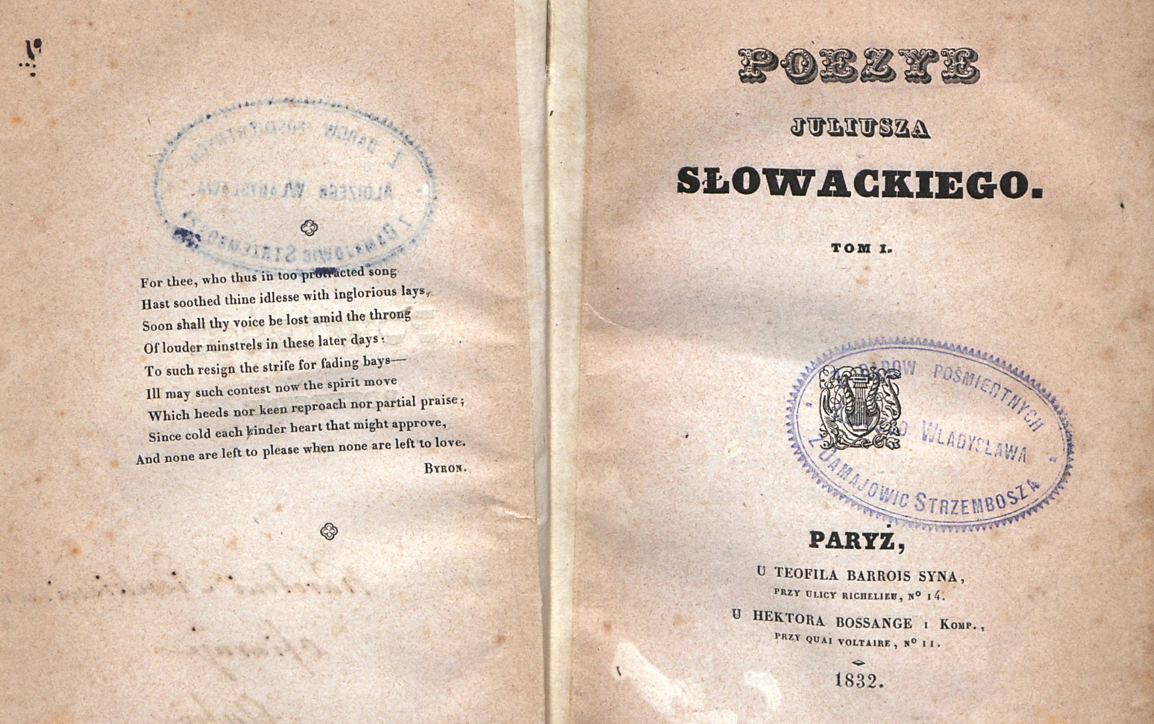 Juliusz Słowacki H Leliwa 1809 1849 Poeta Dramaturg